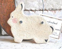 Primitive Easter Decorations Salt Dough Bunny Ornament