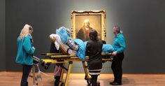 The woman, who suffers from ALS, was brought to Amsterdam's Rijksmuseum along with three other terminal patients.