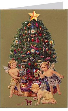 3-D angel Christmas card from England