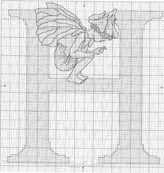 Cross stitch - fairies: Flower fairies alphabet - H: herb twopence fairy - Cicely Mary Barker (chart)