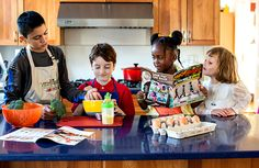 ChopChopKids - a nonprofit org whose mission is to inspire & teach kids to cook real food with their families.  TONS of recipes with photos and videos.