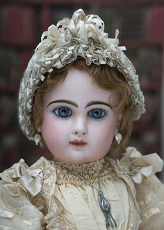 """26"""" (67 cm) Antique Beautiful French Bisque Bebe Jumeau with Rare """"D"""" Mark Antique dolls at Respectfulbear.com"""