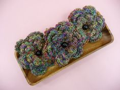 BOWL FILLERS Flowers Jewel Tones  Set of 3 by CraftCreationsEtsy