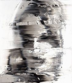 Andy Denzler - Distorted/ (Face Denzler's work is like a malfunctioning TV screen with hints of Gerhard Richter.
