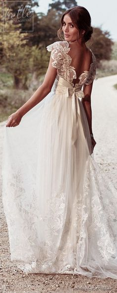 """Vintage Wedding Dresses Wedding Dress by Anna Campbell Eternal Heart collection 2018 - With bold and intoxicating wedding dresses that are """"Everything"""", Anna Campbell 2018 Eternal Heart Collection is a bridal-fashion moment not to be missed. Anna Campbell Bridal, Anna Campbell Dress, Yellow Homecoming Dresses, Bridal Gowns, Wedding Gowns, Wedding Dressses, Wedding Ceremony, Gypsy Wedding Dresses, Wedding Dresses With Bows"""