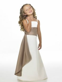 Young bridesmaids dress. White with red