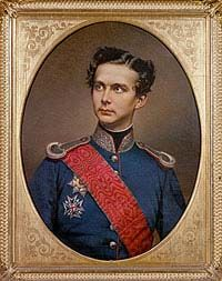 Ludwig II, painting by W. Girl Drawing Sketches, Princess And The Pea, Neuschwanstein Castle, Ludwig, Portraits, Bavaria Germany, Kaiser, Fairy Tales, Adele