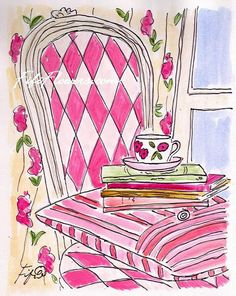 Pink Harlequin Tea by fififlowers on Etsy, $5.00