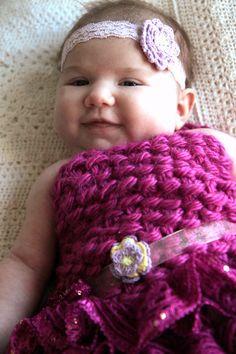 Lace Baby Headbands Newborn-3 Months Flower by LeosLovelyTreasures
