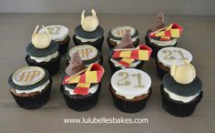 Harry Potter themed 21st Birthday cupcakes