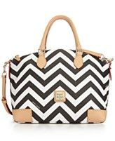 Dooney & Bourke Chevron Satchel - All Handbags - Handbags & Accessories - Macy's Cute Handbags, Satchel Handbags, Satchel Purse, Cute Purses, Purses And Bags, Handbag Accessories, Fashion Accessories, Chevron Purse, Beautiful Bags