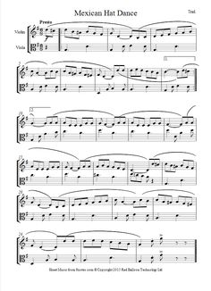 Mexican Hat Dance sheet music for Violin-Viola Duet
