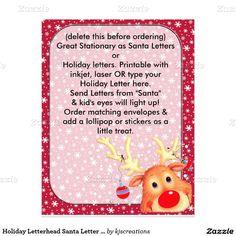 Holiday Letterhead Santa Letter Christmas