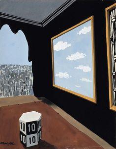 René Magritte - Untitled, 1936 René Magritte 1898 - 1967  More @ FOSTERGINGER At Pinterest