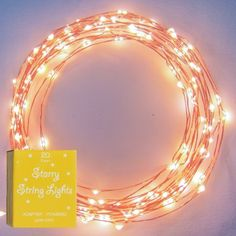 The Original Starry String Lights™ by Brightech - Warm White Color LED's on a Flexible Copper Wire - 20ft LED String Light with 12...