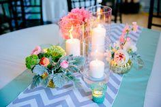 Pink, Peach, Yellow, Green + Aqua Blue Colorful Wedding // Creek Club at I'On // Dana Cubbage Weddings // Charleston SC Wedding Photographer // Fabulous Florals by Branch Design Studio