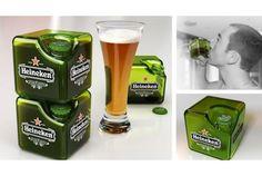 ボトル形のビール瓶。丸くて持ちやすいけど、隙間なく収納できないから冷蔵庫の場所を取るし、持ち運ぶときもかさばりますよね。そんなビール瓶のデメリットを見事に解消してくれそうなのが、フランスの工業デザイナーPetit Romainさんが製作したキューブ型ビール瓶のコンセプト。四角い形にすることで隙間なく重ねられるから、これまでのボトル型と比べて、冷蔵庫でもかなりの省スペースで保存できます。飲みくちはこ...