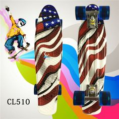 New 22 Inch complete Fish board With good quality and price for Girl and boy to Enjoy the skateboarding Mini rocket board