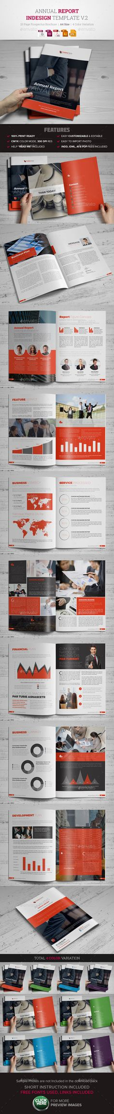 Annual Report InDesign Template v2