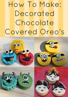 How to: Chocolate Covered Oreo's. A Tutorial for making your own super cute, hand decorated chocolate cookies from Cake Pop Creations #Tutorial #Kidsparty #Chocolate Cookies