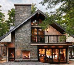 Dream Home Design, Modern House Design, Contemporary Design, Modern Houses, Cottage Renovation, Modern Farmhouse Exterior, Rustic Exterior, Dream House Exterior, Cottage Exterior