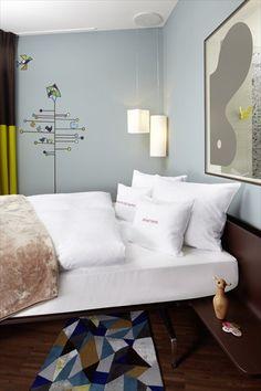 25hours Hotel Zürich West - Zurich, Switzerland - 2012 by Alfredo Häberli   #bedroom