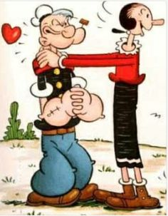 Popeye y Olivia, dibujos animados