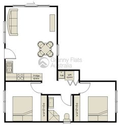 Flats Design 2 bedroom bungalow floor plan |  plan and two generously sized