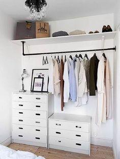 diy home decor - Creative But Simple Clothing Rack Design Ideas Bedroom Cabinets, Rack Design, Design Design, Interior Design, Closet Designs, Closet Organization, Organization Ideas, Clothing Organization, Diy Bedroom Decor