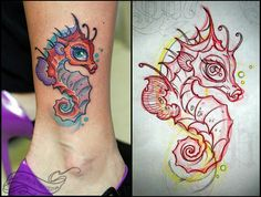 Home - Tattoo Spirit Girly Tattoos, Dream Tattoos, Feminine Tattoos, Unique Tattoos, Cool Tattoos, Future Tattoos, Seahorse Tattoo, Mermaid Tattoos, Hand Tattoos