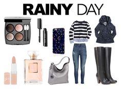 """Rainy Day"" by kaylap0901 ❤ liked on Polyvore featuring moda, Prairie Underground, H&M, J.Crew, Bebe, Sydney Love, Chanel e Rimmel"