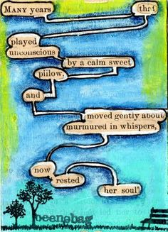 found poetry by brenda beene shackleford-colour paper with poetry words left open