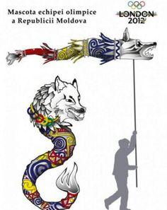 Stindardul lui Decebal va fi mascota echipei olimpice a Republicii Moldova Dragon Wolf, Moldova, Draco, Tatoos, Roman, Empire, Symbols, Image, Tattoo Ideas