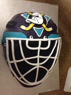 Mighty Duck Goalie Mask Birthday cake
