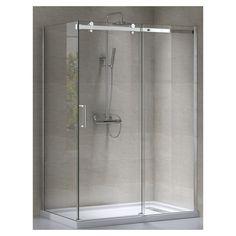 Douche rectangulaire 48 po x 32 po pour installation avec murs en…