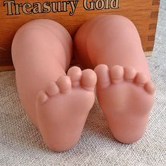 Vintage Rubber doll's legs Chubby baby limbs Old doll by MyWealth
