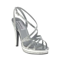 e4d3c68c760 Dyeables bryce silver heel Shoes Sandals