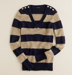 Wynter V-neck sweater in stripe