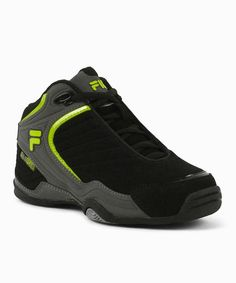 Take a look at this Black & Lime Breakaway Basketball Sneaker by FILA on #zulily today!