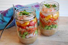 12. Shrimp and Vegetable Salad With Coconut Peanut Sauce