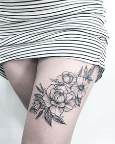 """6,333 Likes, 27 Comments - Tattoo Artist (@anna_bravo_) on Instagram: """"For tattoo convention in Lorient #peoniestattoo #peonies #instatattoo #annabravo#flowers…"""""""