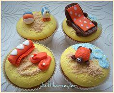 Seaside cupcake