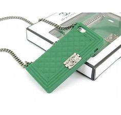 Chanel Boy iPhone 5 iPhone 5S Case Green - Free Shipping Luxury Cases