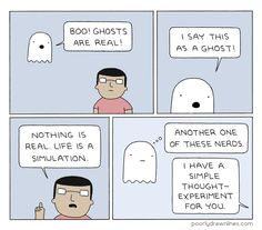 Poorly Drawn Lines – Ghosts Are Real Poorly Drawn Lines, Funny Memes, Hilarious, Fun Funny, Funny Stuff, Thought Experiment, Halloween Horror, History Facts, Cute Drawings