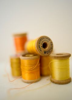 24 Ideas Sewing Aesthetic Orange For 2019 Mellow Yellow, Orange Yellow, Mustard Yellow, Colour Yellow, Yellow Leaves, Bright Yellow, Jaune Orange, Thread Spools, Shades Of Yellow