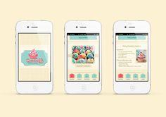 Sweety iPhone app GUI by Sherif Ahmad, via Behance