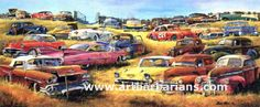 Field of Dreams by Dale Klee. Tons of art featuring classic cars