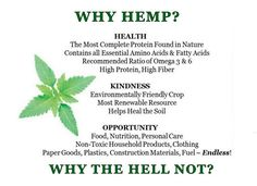 Why #hemp? Why the hell not! ;)