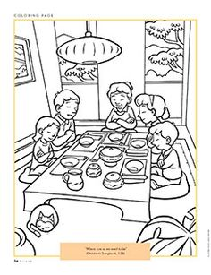 LDS Coloring Book Pages | family coloring page | LDS Lesson Ideas ...