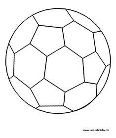 AUSMALBILD FUSSBALL – Ausmalbilder für kinder